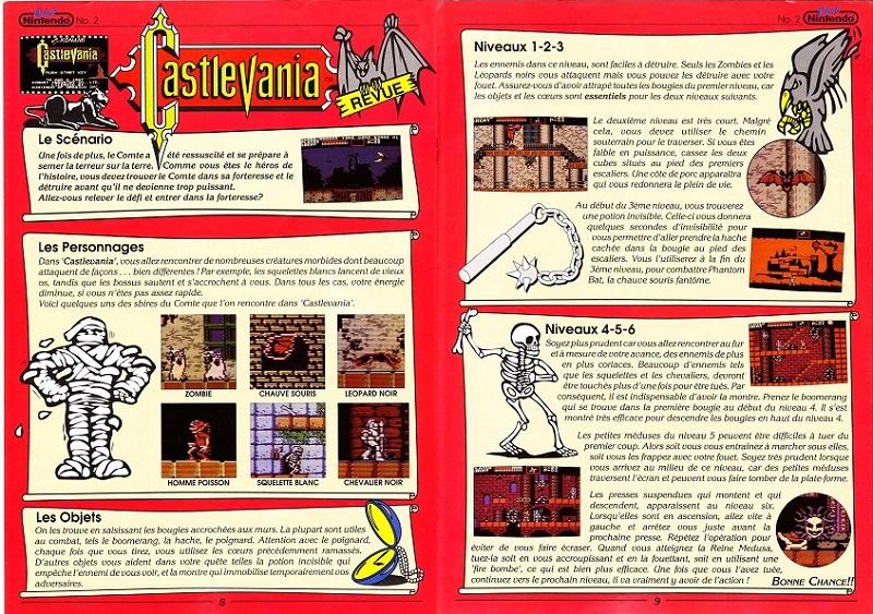 [REVUE DE PRESSE] Castlevania sur NES et Amiga