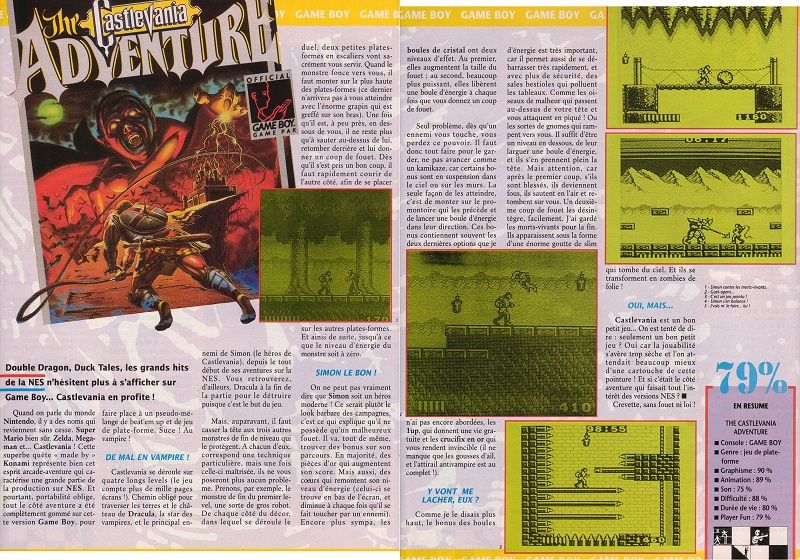 [REVUE DE PRESSE] Castlevania : The Adventure sur Game Boy